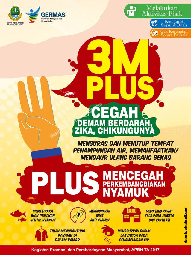 Desain Poster 3M Plus Mencegah Demam Berdarah ...